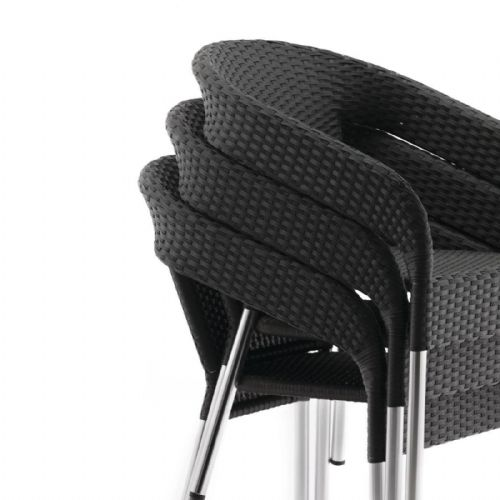 Bolero Wicker Wraparound Bistro Chairs (Pack of 4) - CG223